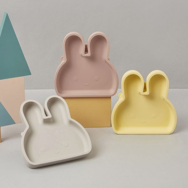Bopomofo Bunny Silicone Plate with Suction Base