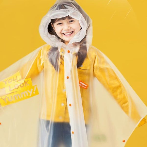 Kids Raincoat with Inflatable Brim - You Look Yummy - Ages 4-6
