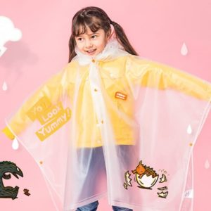 Kids Raincoat with Inflatable Brim - You Look Yummy