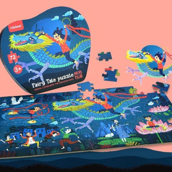 The Dragon King Jigsaw Puzzle - NeZha Conquers