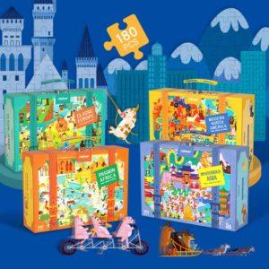 Travel Around the World Jigsaw Puzzle - 180pcs