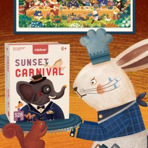 Sunset Carnival Jigsaw Puzzles - 528pcs