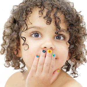Non-Toxic Waterproof Nail Stickers - 100pcs