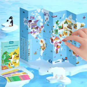 World Map Poster Stickers - Ages 3+