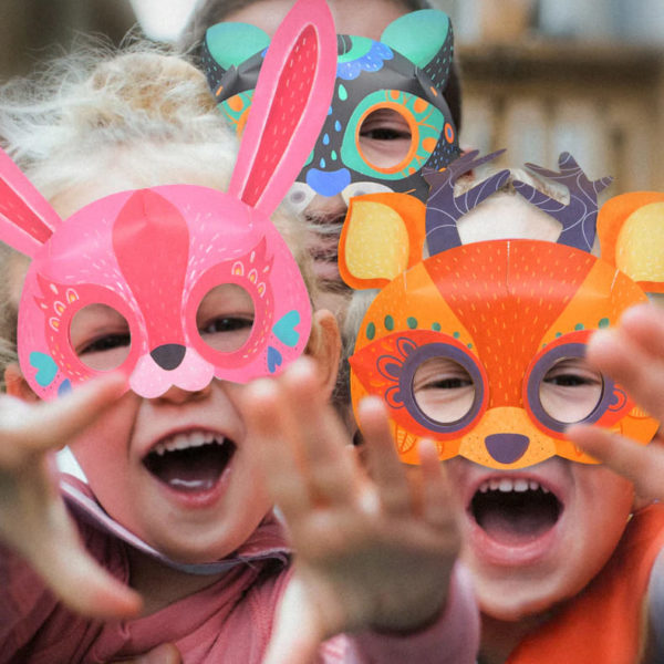 3D Origami Animal Paper Masks - Ages 5+