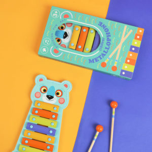 7 Color Scale Metal Xylophone